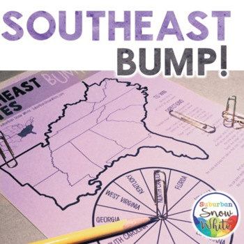 Southeast Bump Game for United States, U.S. Capitals, and Abbreviations