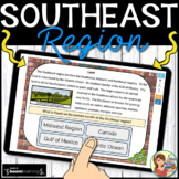 Southeast Region Boom Cards Distance Learning