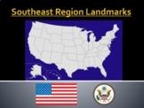 Southeast Region Map Scavenger Hunt and Landmarks Bundle