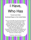 Southeast Region - Cities and Tourism, I Have Who Has Game