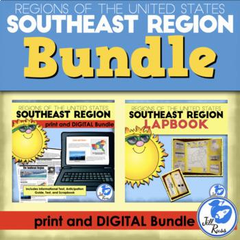 Southeast Region Lapbook and Unit Bundle (5 Regions)