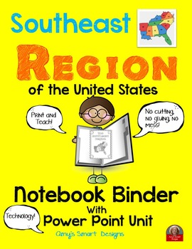 Southeast Region PowerPoint and  Notebook Binder Pages Bundle