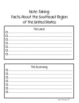 Southeast Region Scrapbook & Notes Unit