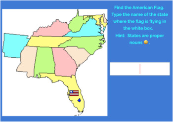 Southeast Region U.S. States and Capitals Boom Cards, Geography, Map Skills