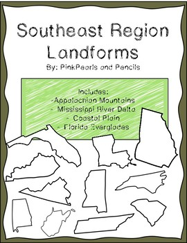 Southeast Region of the United States Landforms Interactive NB Reading Passages!