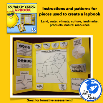 Southeast Region of the United States Lapbook or Interactive Notebook