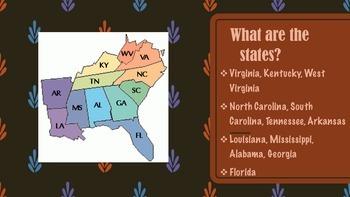 Southeast Region of the United States Presentation