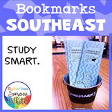 Southeast United States Bookmarks with States, Capitals, a