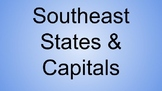 Southeast States & Capitals Interactive Notebook