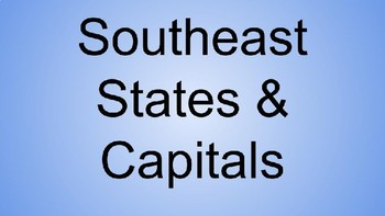 southeast states capitals interactive notebook southeast states capitals interactive notebook