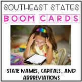 Southeast States, Capitals, and Abbreviations Digital Boom Cards