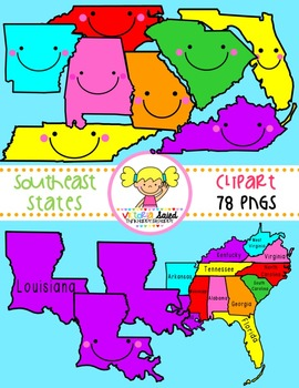 Southeast States Clipart