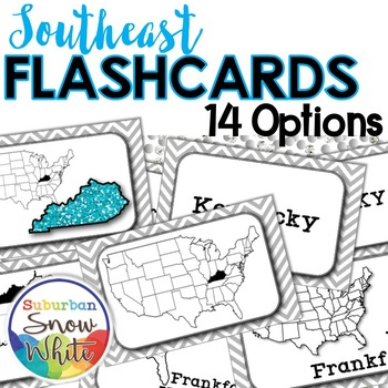 Southeast United States Flashcards, Differentiated for Growth Mindset