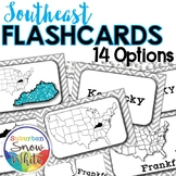 Southeast States Flashcards, Differentiated {14 styles}
