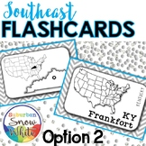 Southeast United States Flashcards, States, Capitals, Abbr