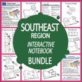 Southeast Region States Interactive Notebook Bundle + AUDIO!