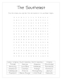 Southeast States and Capitals Word Search
