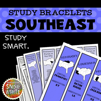 Southeast United States Bracelets With Capitals Abbreviations
