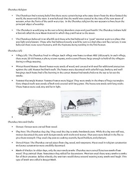 Southeastern Native Americans Booklet