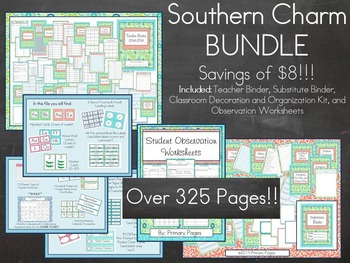 Southern Charm Classroom Decoration and Organization BUNDL