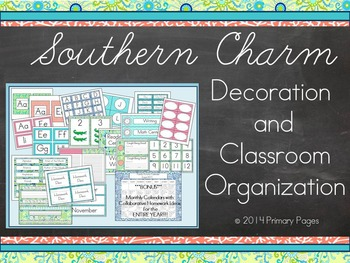 Southern Charm Classroom Decoration and Organization