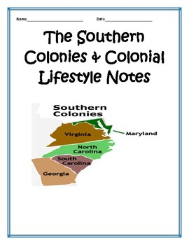 Southern Colonies BUNDLE