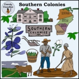 Southern Colonies Clip Art by Dandy Doodles
