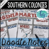 Southern Colonies Doodle Notes