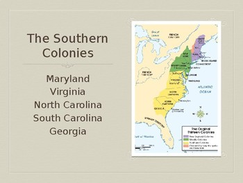 Southern Colonies Overview