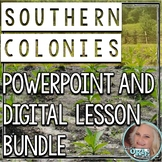 Southern Colonies Power Point and Digital Bundle - Distanc
