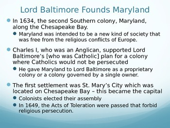 Southern Colonies PowerPoint