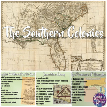 Southern Colonies PowerPoint for a 13 Colonies Unit