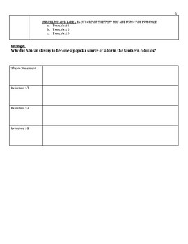 Southern Colonies Primary Source Activity