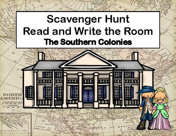 Southern Colonies-Reading Comprehension- Read The Room-Grades 5-8