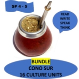 Southern Cone Bundle - 16 culture units  for Spanish Intermediate 2 -