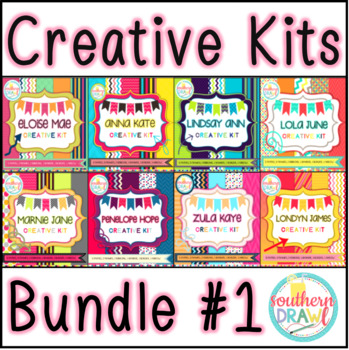 Southern Drawl Creative Kits BUNDLE #1 (Digital Papers and Frames)
