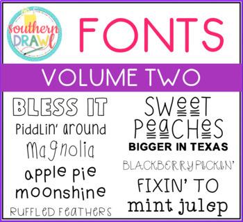 Southern Drawl Fonts: Growing Bundle