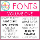 Southern Drawl Fonts: Volume One