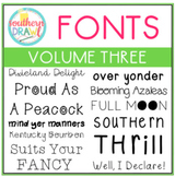Southern Drawl Fonts: Volume Three