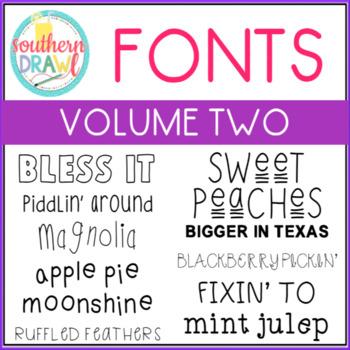 Southern Drawl Fonts: Volume Two