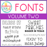 Southern Drawl Fonts: Volume Two