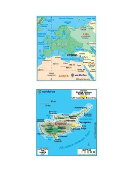 Southern Europe Map Scavenger Hunt