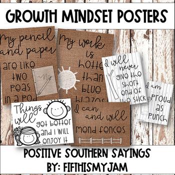Southern Growth Mindset Posters {Burlap & Shiplap}