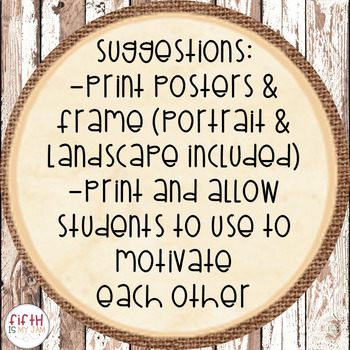 Southern Growth Mindset Posters {Burlap & Shiplap}