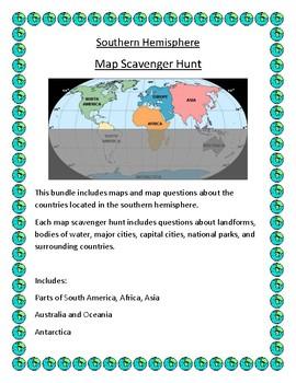 Southern Hemisphere Map Scavenger Hunt