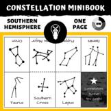 Southern Hemisphere Summer Star Constellations Mini-book