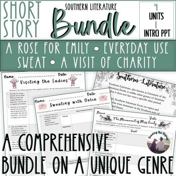 Southern Literature Bundle Hurston Walker Welty Faulkner Full Unit