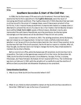 Southern Secession, Civil War Brainpop, Strategies of the War