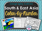 Southern and Eastern Asia: Color-by-Number