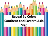 Southern and Eastern Asia Map - Reveal by Color Map and Task Cards